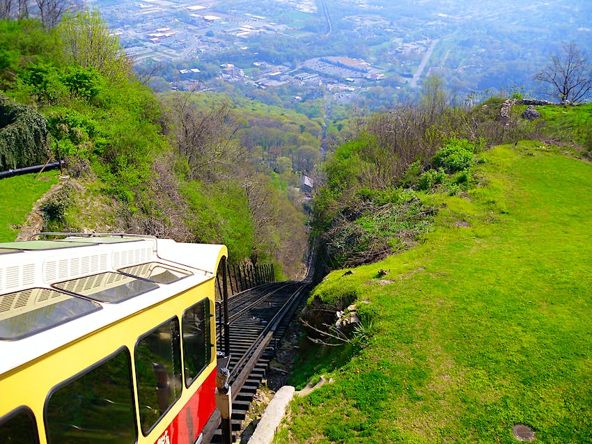 The historic Lookout Mountain Incline Railway