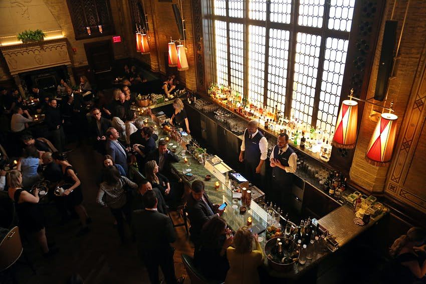 The interior of the 1920s-inspired Campbell Bar