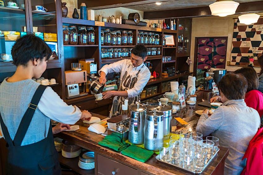 Coffee shop. Kanazawa. Japan. (Photo by: Peter Adams/Avalon/Universal Images Group via Getty Images)