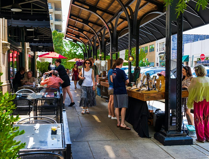 Grove Arcade à Asheville, Caroline du Nord