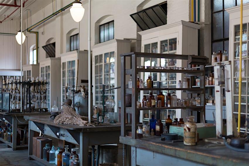 Interior of Thomas Edison's laboratory and residence