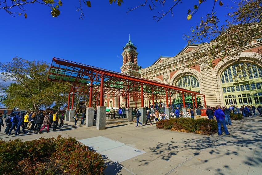 Exterior of the Ellis Island National Museum of Immigration