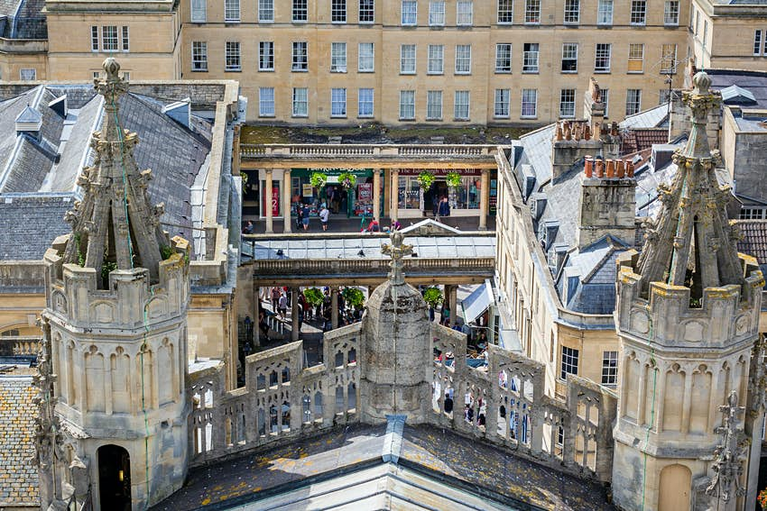 A view from Bath Abbey's rooftop