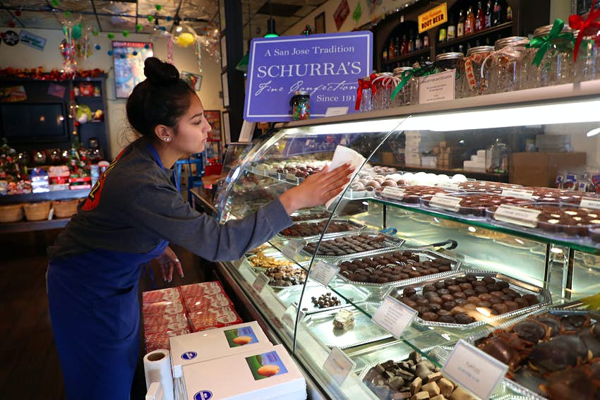 The Willow Glen Sweet Shoppe sells Schurra's Fine Confections