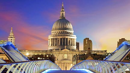 Take this virtual walking tour of London from Millennium Bridge to St Paul's Cathedral
