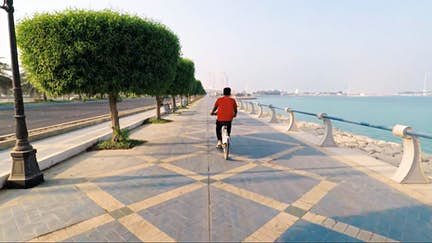 Cycle along the waterfront