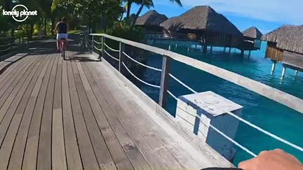Escape self-isolation with this bike ride in Bora Bora