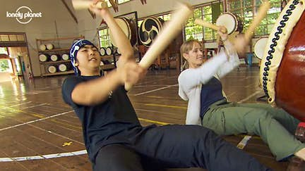 Apprentice on Globe Trekker episode auditions for elite taiko group