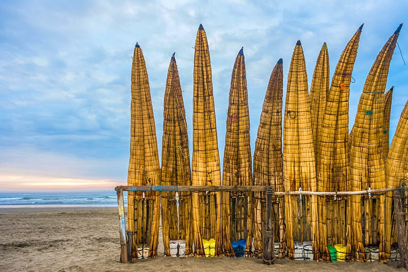 Features - Traditional Peruvian small Reed Boats in Peru