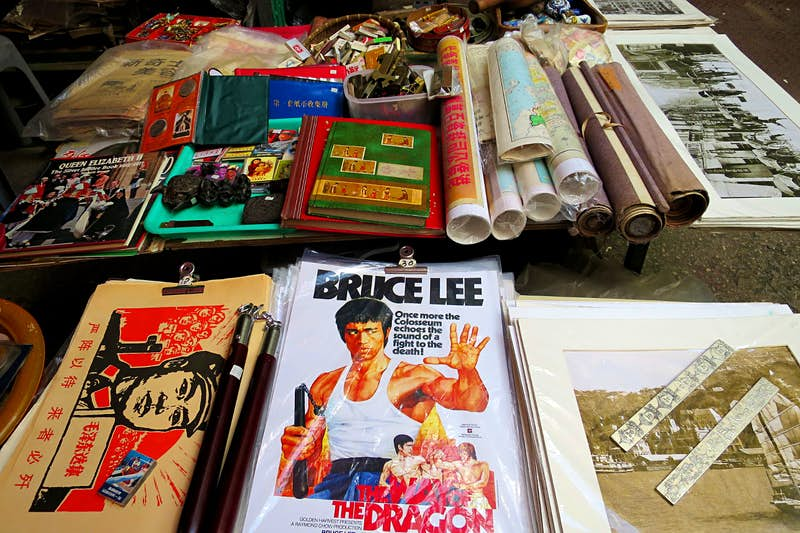 Bric-a-brac and posters for sale along Hollywood Rd. Image by Megan Eaves / Lonely Planet