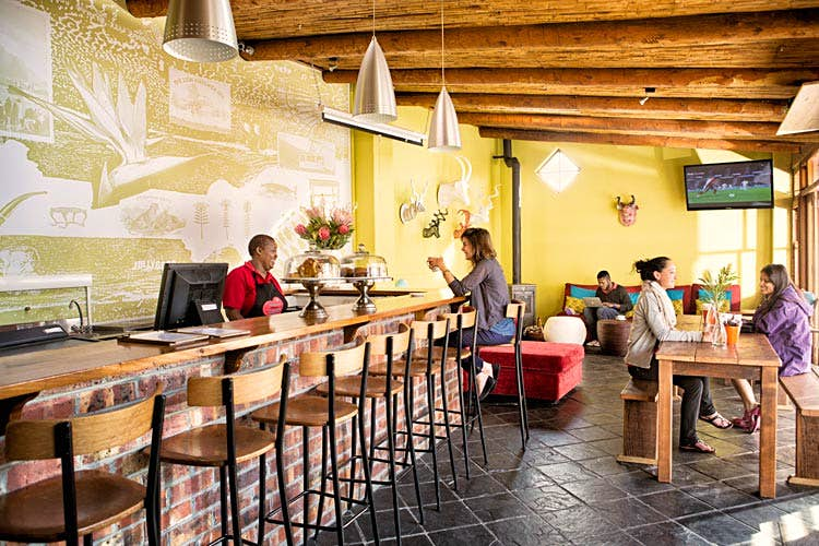 A warm welcome in the airy surrounds of Cape Town's The Backpack. Image courtesy of The Backpack.