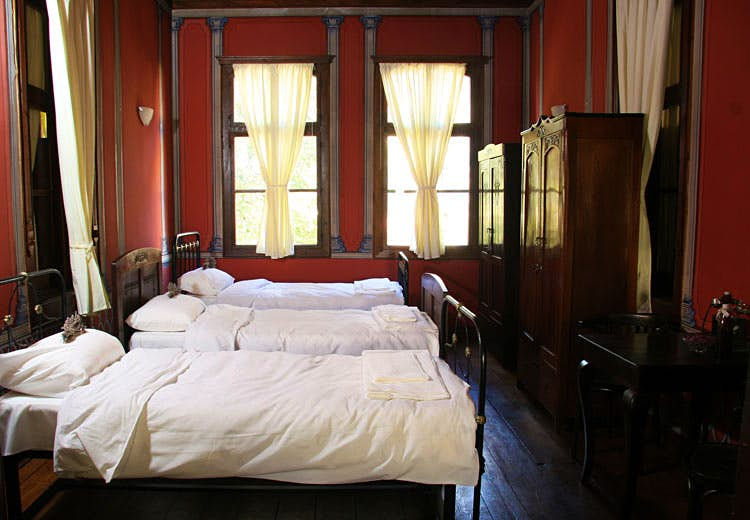 Stay the night in Plovdiv's most characterful hostel. Image courtesy of Old Plovdiv Guesthouse.