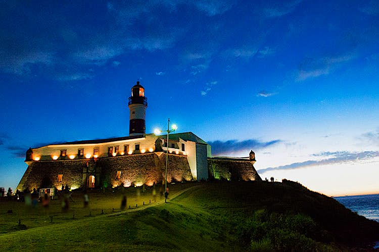 Salvador's Farol da Narra, the oldest lighthouse in South America. Image by luiz ab / Moment / Getty Images.