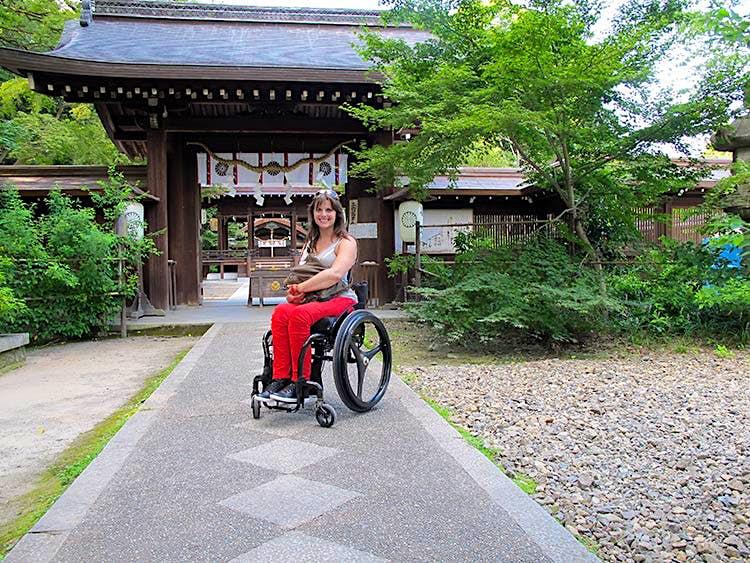 The author, Ashley Lyn Olson, travelling solo in Kyoto. Image courtesy of Ashley Lyn Olson.