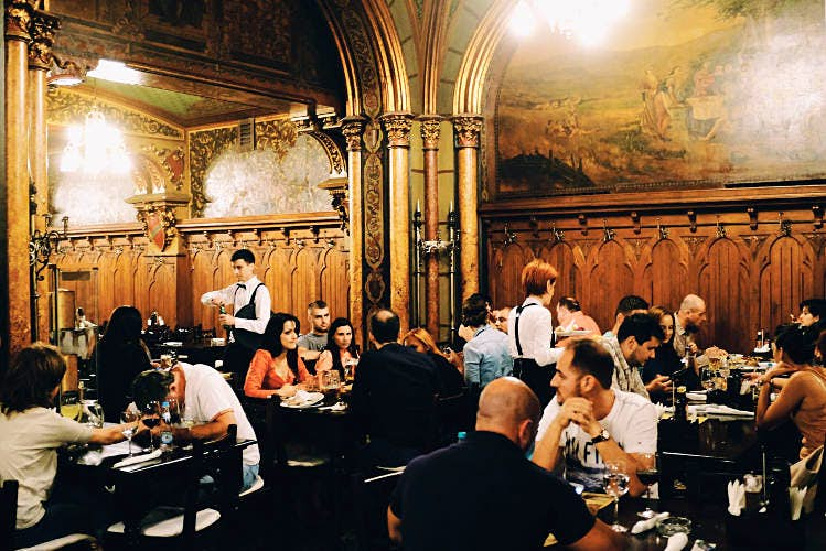 Caru' cu Bere is a popular beer house in Bucharest. Image by Mark Baker / Lonely Planet