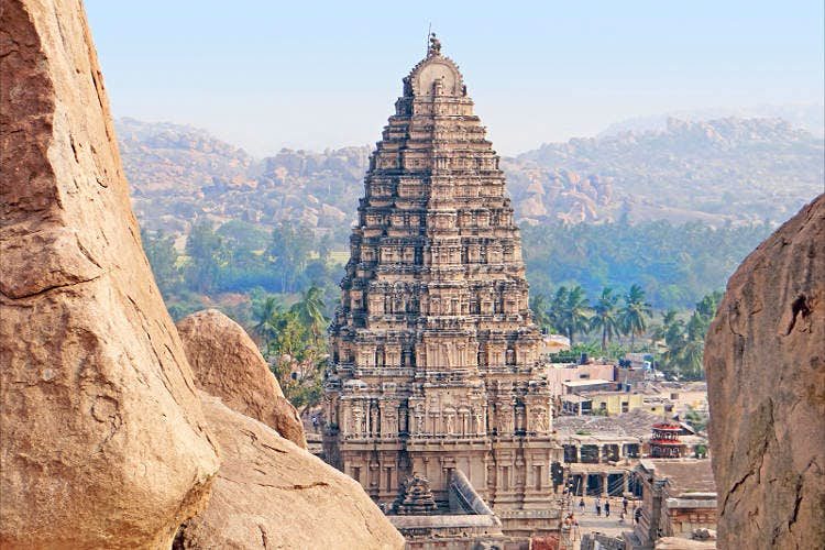 Gopuram of Virupaksha Temple, Hampi. Image by Jean-Pierre Dalbéra / CC BY 2.0.