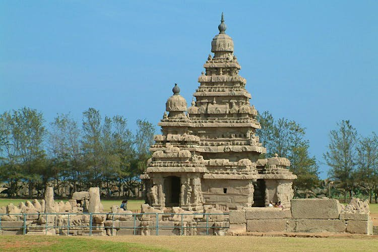 The Shore Temple, Mamallapuram. Image by Geetesh Bajaj / Getty Images.