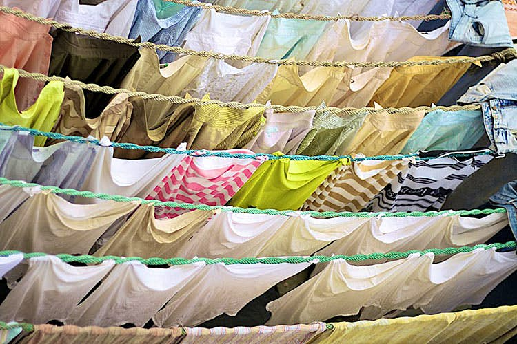 Your dorm room should not look like a Mumbai laundry. Image by Andreas Eldh / CC BY 2.0