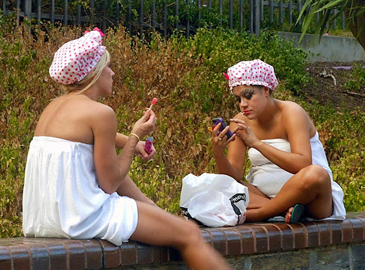 Donning the shower cap too early: rookie mistake if you're a hosteller. Image by Michael Coghlan / CC BY-SA 2.0