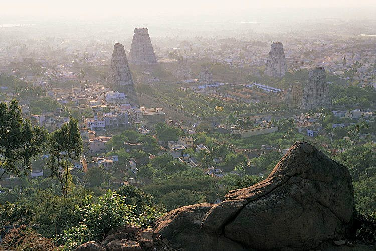 Gopurams of the Arunachaleshwar Temple, Tiruvannamalai. Image by Michael Freeman / Getty Images.