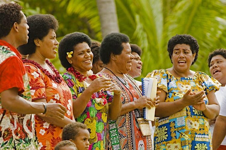 Women singing on Kadavu Island, Fiji. Image by Paul Harris / Getty Images