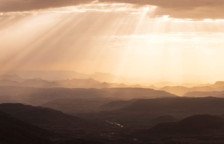 Sunset over the hills near Lalibela. Image by Philip Lee Harvey / Lonely Planet