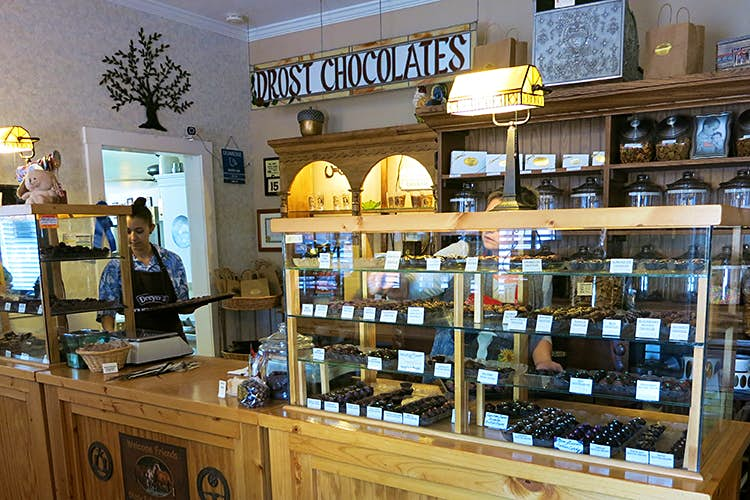 Inside Drost's Chocolates in Eckert, Colorado. Image by Leif Pettersen / Lonely Planet
