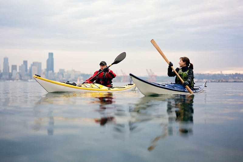 Kayaking is a great way to see Seattle's waterways. Image by Kirk Mastin / Aurora / Getty