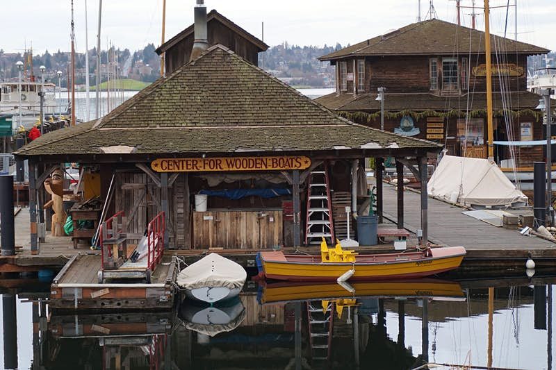 Seattle's Center for Wooden Boats rents watercraft for exploring Lake Union and maintains a collection of maritime history artifacts. Image by Brendan Sainsbury / Lonely Planet