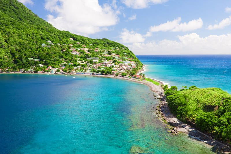 The picturesque village of Scotts Head, Dominica