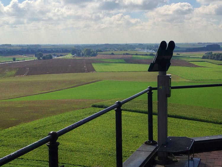 Waterloo Battlefield seen from the Lion Mound. Image by Tim Richards/Lonely Planet.