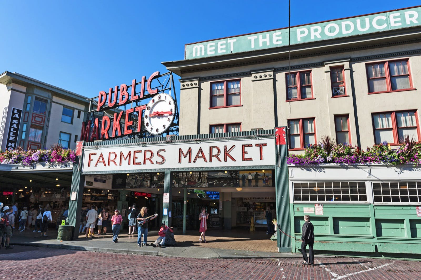 Seattle Waterfront and Pike Place Market
