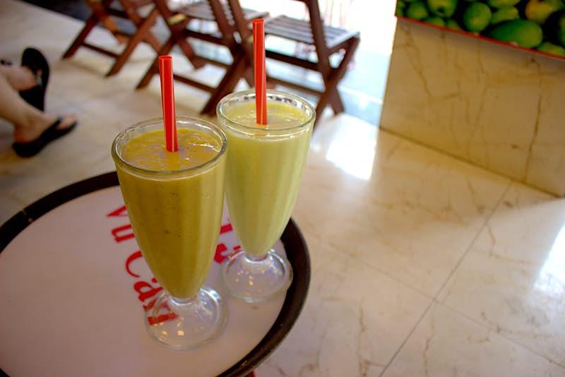 Vietnamese avocado-with-coffee shake