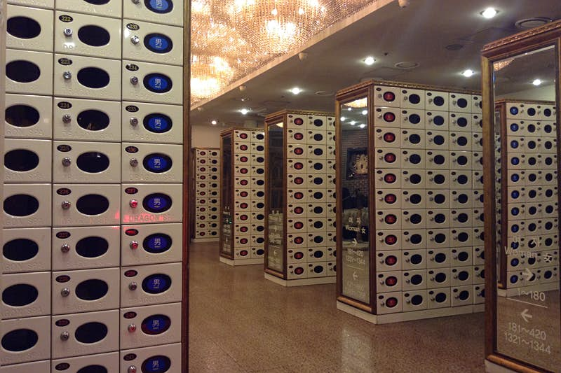 Typical jjimjilbang locker room: stow your shoes! Image by Rebecca Milner / Lonely Planet