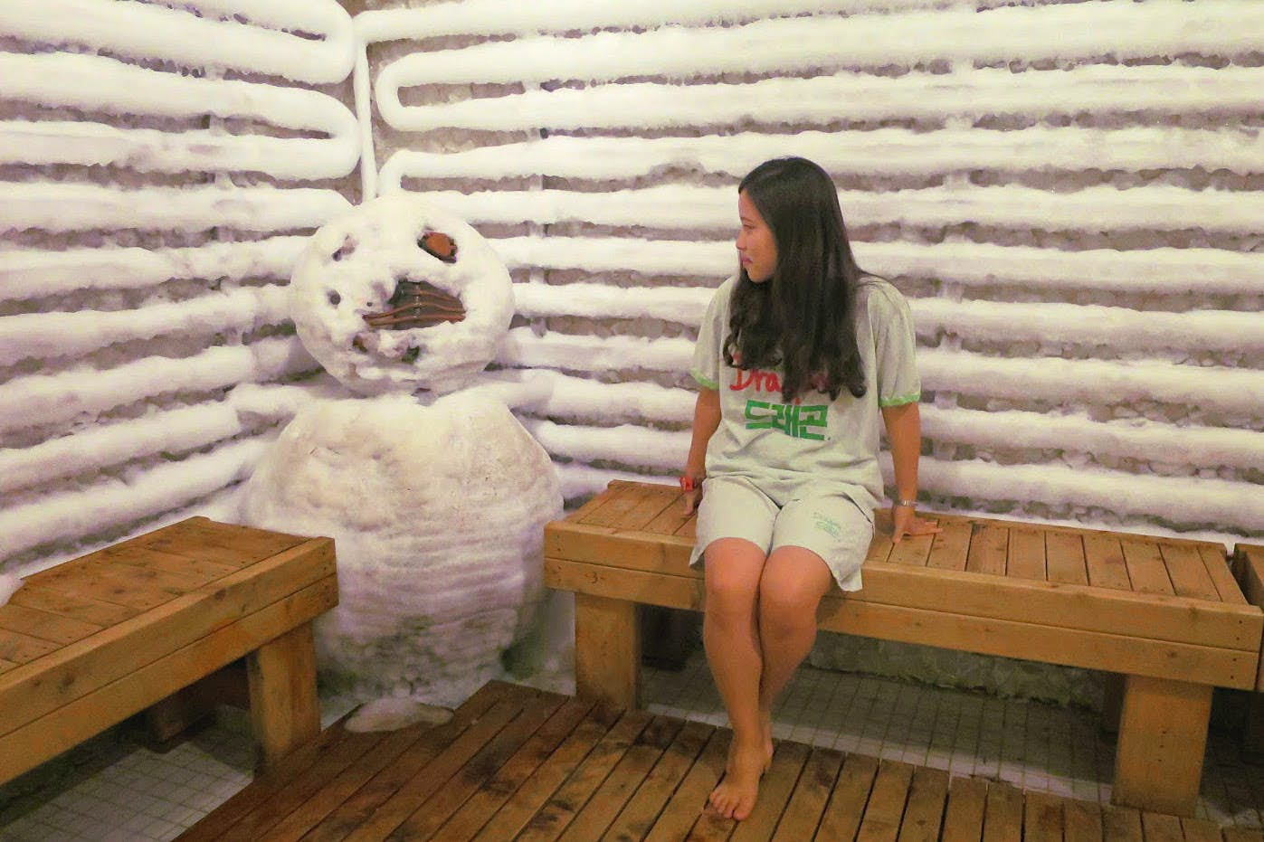 Cool down: the ice room at Dragon Hill Spa in Seoul is a breath of fresh air. Image by Megan Eaves / Lonely Planet