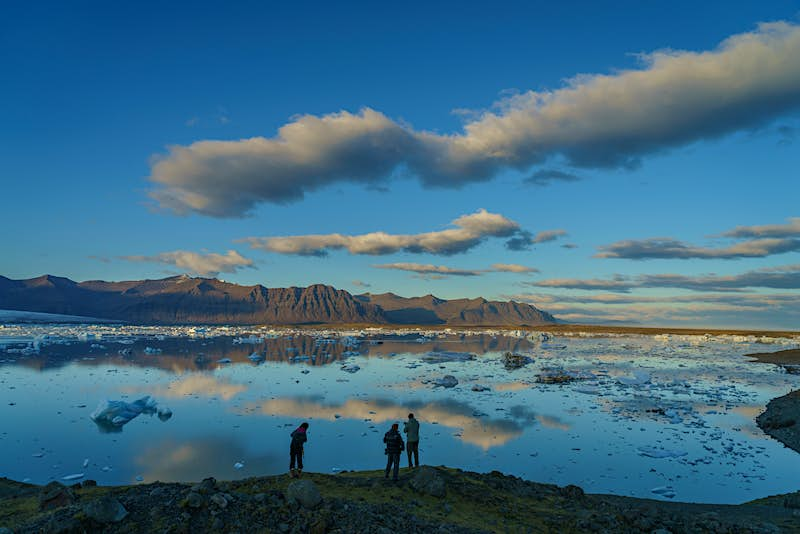 Spectacular Jökulsárlón, one of Iceland's most famous sights. Image by Arctic Images / Getty