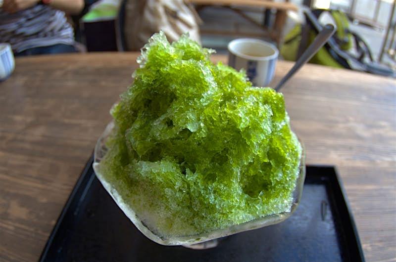 Kakigouri hương vị trà xanh; Những điều tốt nhất để làm vào mùa hè ở Nhật Bản