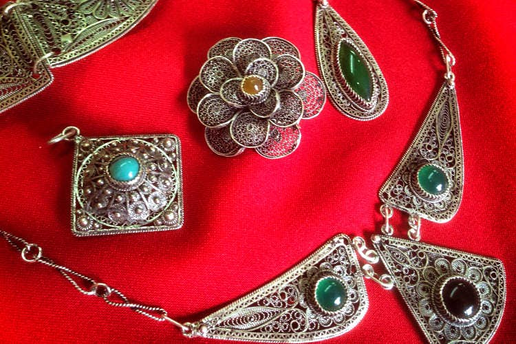 Traditional filigree jewellery at Filigrani collective in Prizren. Image by Larissa Olenicoff / Lonely Planet