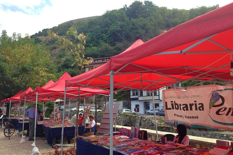 Dokufest and booksellers mark the cultural summer in Prizren. Image by Brana Vladisavljevic / Lonely Planet