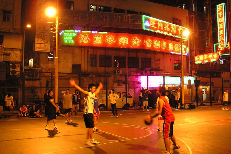 Late-night basketball is popular in Kowloon. Image by Marcus Hansson / CC BY 2.0