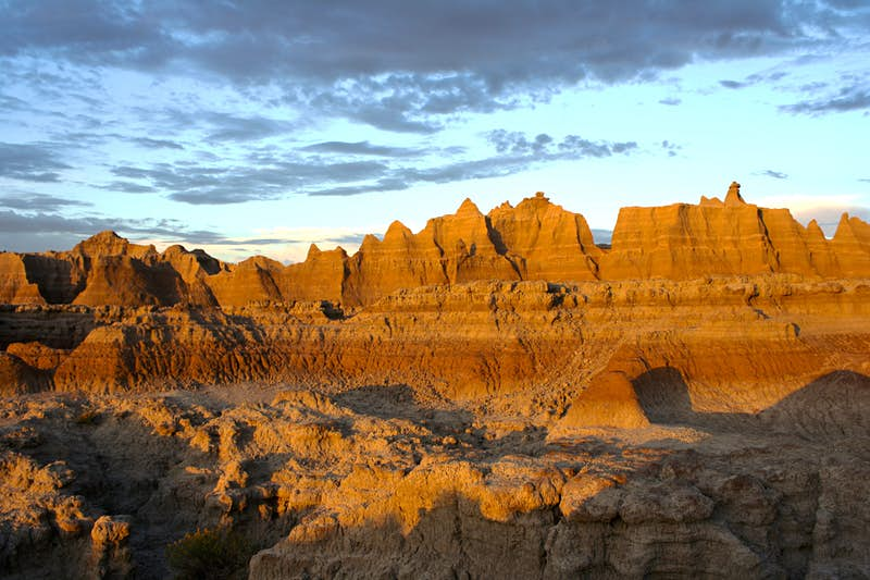 The strange rock formations at Badlands National Park. Image by Alexander Howard / Lonely Planet