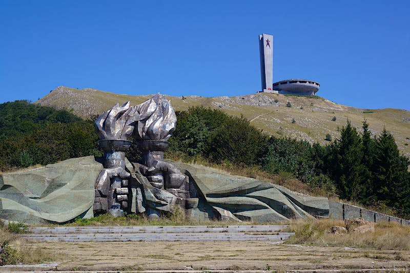 Bulgaria's abandoned Buzludzha monument was built as a socialist assembly hall © Anita Isalska / Lonely Planet