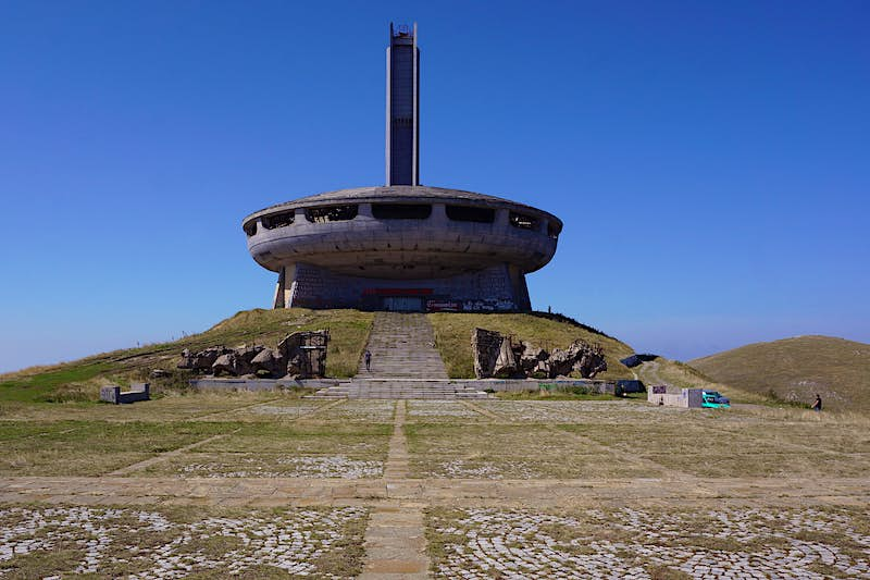 The saucer-shaped Buzludzha monument is known as Bulgaria's UFO © Anita Isalska / Lonely Planet