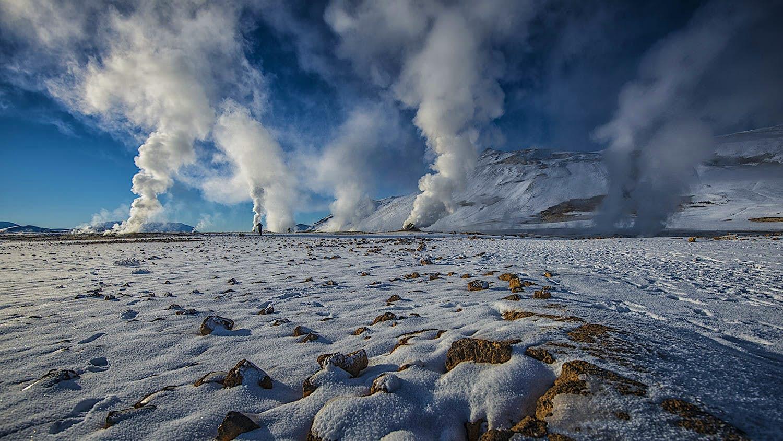The area around Iceland's Krafla volcano