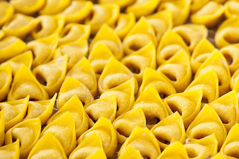 Tortellini pasta is a staple in Bologna