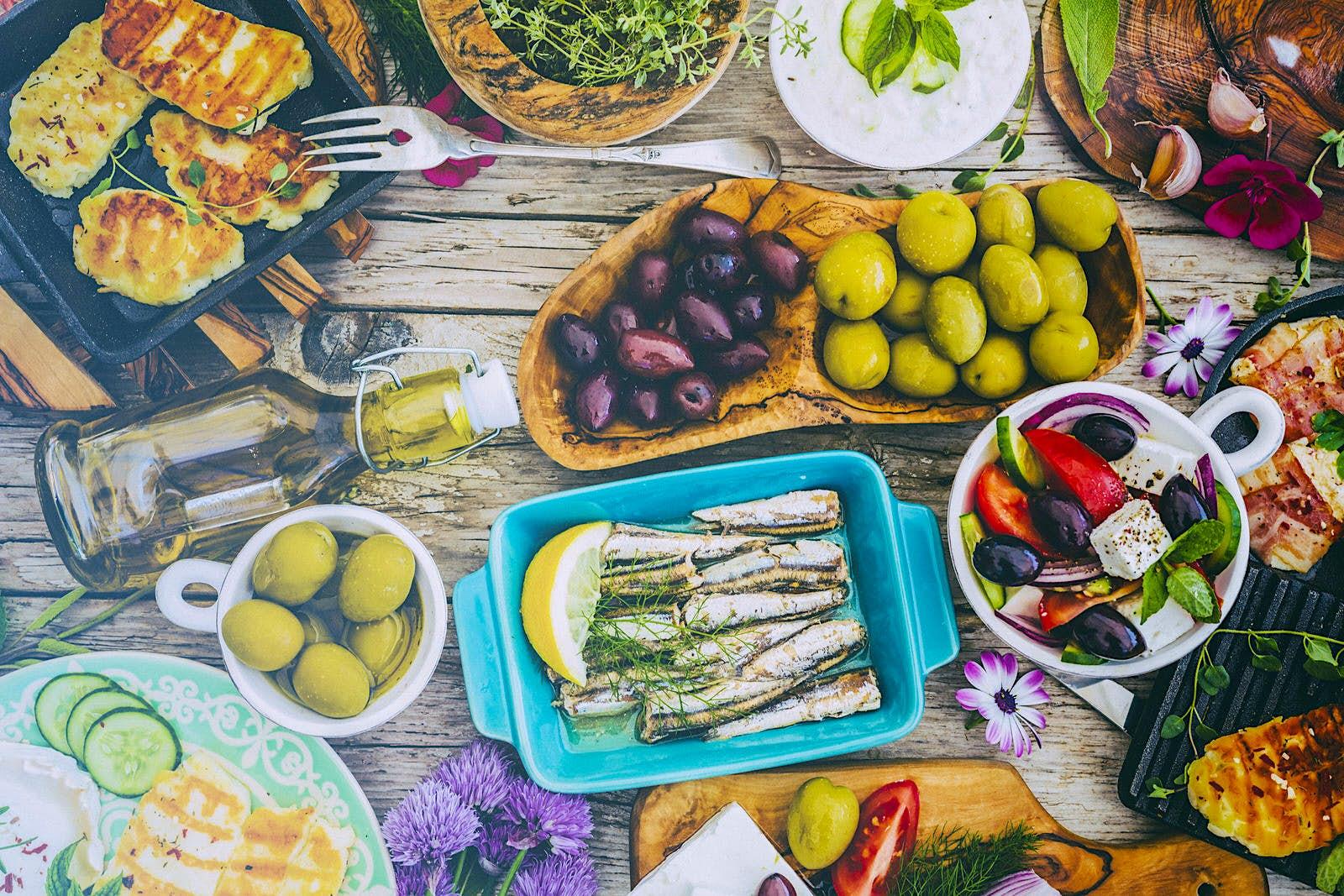 Greek cuisine with mandatory olives © gorillaimages / Shutterstock