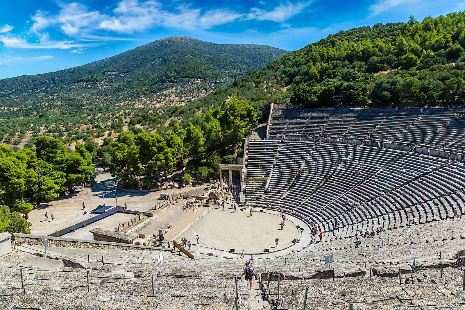 The ancient Theatre of Epidavros © S-F / Shutterstock
