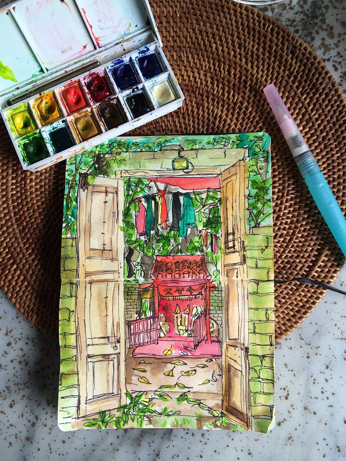 How travel lovers can enjoy urban sketching at home