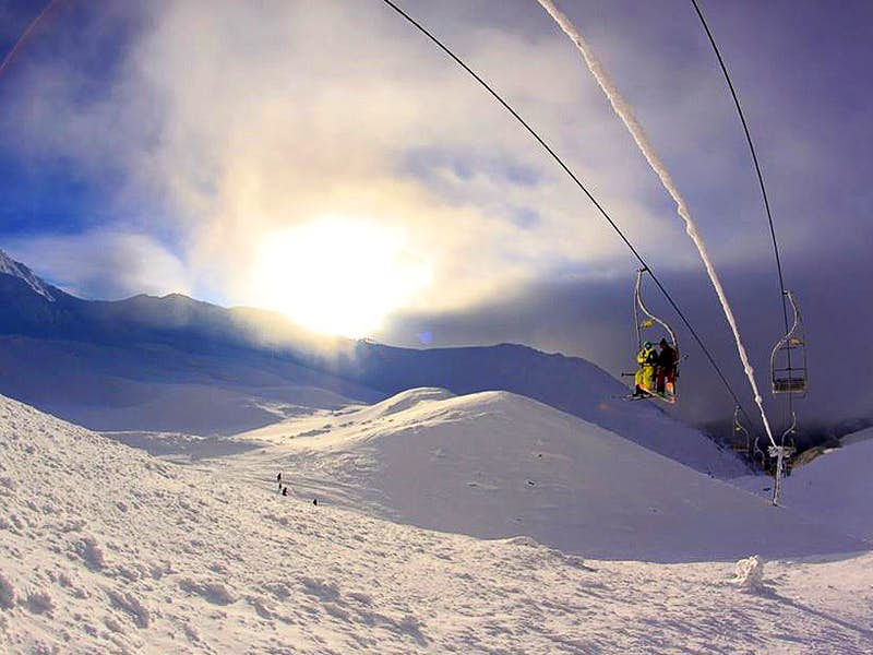 Skiing at Kosovo's Brezovica resort in the Sharr (Šar) Mountains © courtesy of Brezovica ski resort
