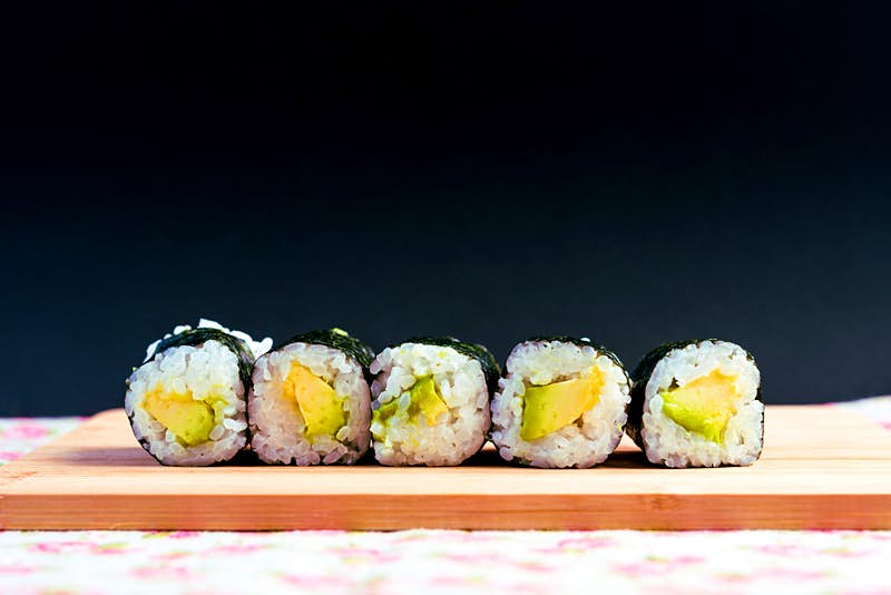 Hand-rolled sushi – just one of the fresh tastes people crave on a trek through the Himalaya © Pinghung Chen/EyeEm/Getty Images